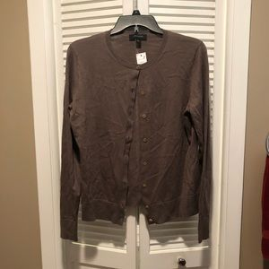 Brown Cardigan with Gold buttons